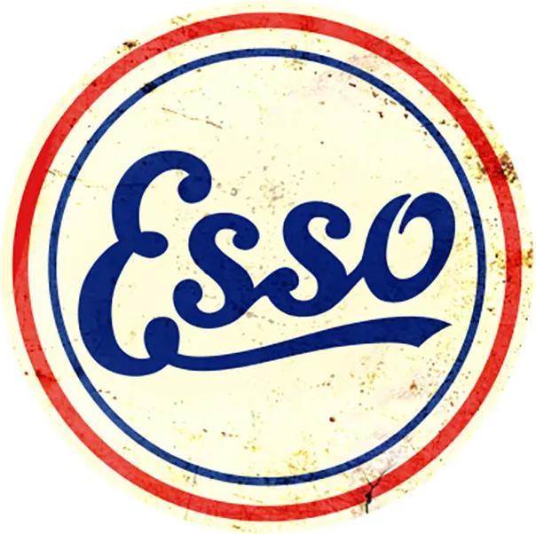Placa Esso Antiga Redonda