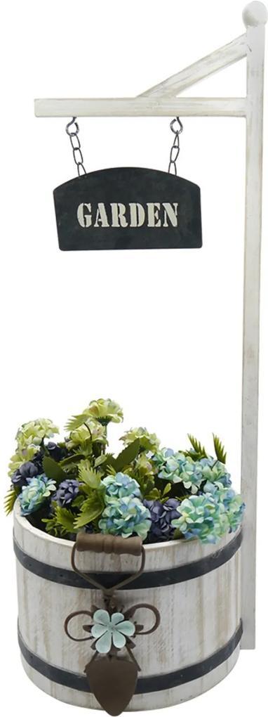 Vaso De Madeira Garden Tina Decorativo
