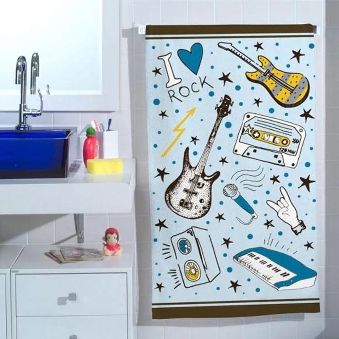 Toalha de Banho Infantil Rockstar - 250 g/m²