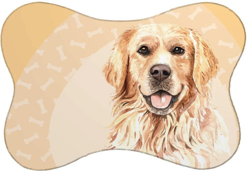 Tapete PET Mdecore Osso Golden Bege54x39cm