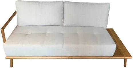 Sofa Elle 3 Lugares Linho Cinza com Base Amendoa 1,84 MT (LARG) - 49927 Sun House