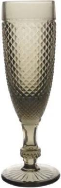 Taças Champagne Cinza Bico de Jaca 6 peças