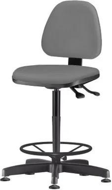Cadeira Sky Assento Crepe Cinza Escuro Base Caixa Fixa Metalica Preta - 54818 Sun House
