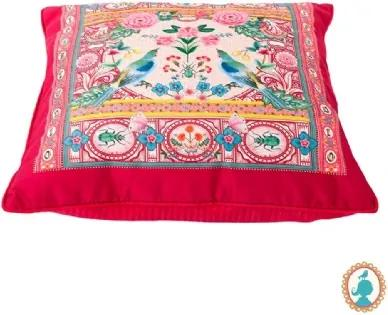 Almofada Indian Festival Vermelha Floral Pip Studio