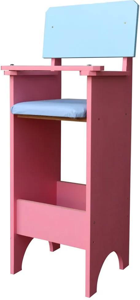 Cadeira Infantil Para Refeição Restaurante Rosa/Azul - Criança Feliz