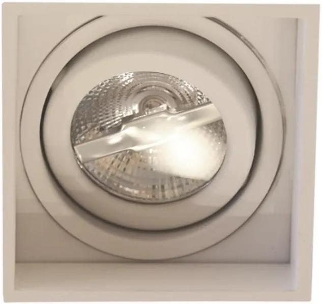 Plafon Embutir Aluminio Branco 9,6cm No Frame