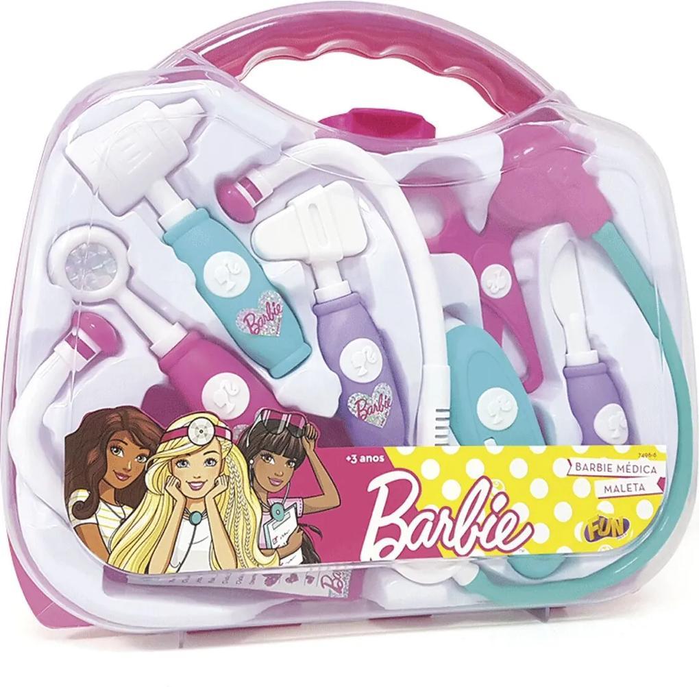 Barbie Kit Medica Maleta Rosa Fun Divirta-Se