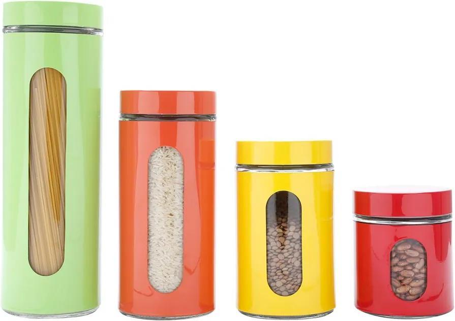 Jogo Porta Mantimentos 4 Peças Inox Colorido 25800 Bon Gourmet