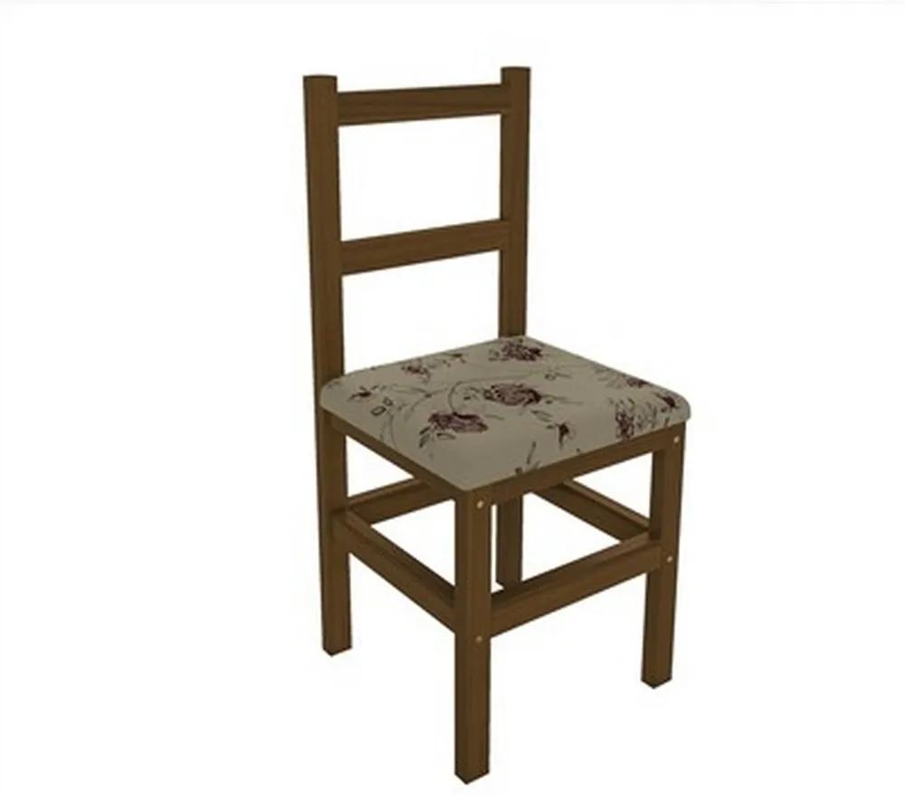 Cadeira Estofada 454 Imbuia/Floral - Belini