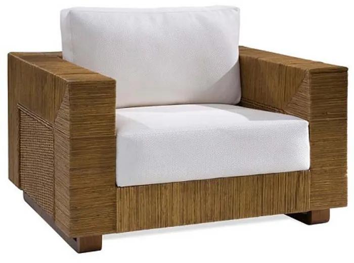 Poltrona Chipre Junco Envelhecido Estrutura Madeira Eco Friendly Design Scaburi