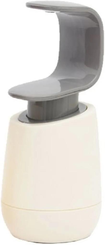 Porta Sabonete Líquido De Plástico 320ml Cinza