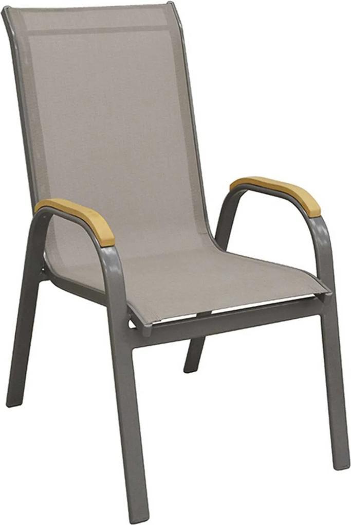 Cadeira Maresias Amêndoa Tela Bege Rivatti Móveis