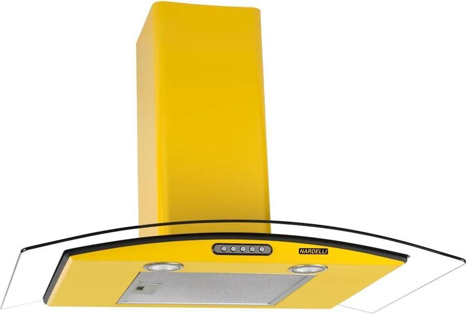 Coifa de Parede Vidro Curvo Duto Slim Yellow 90 cm 127v - Nardelli