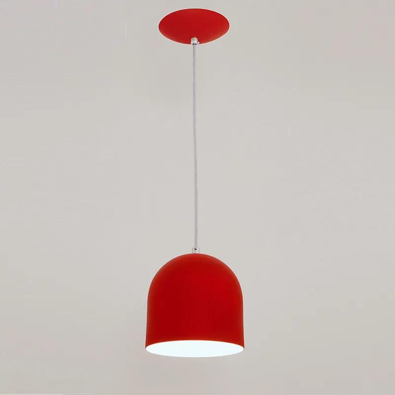 Pendente Sevilha para 1 Lâmpada Vermelho