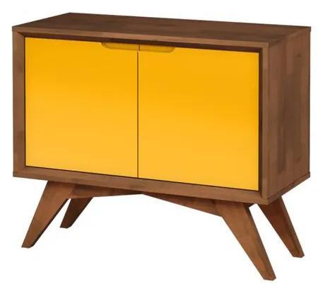Buffet Uriel 2 Portas Pinhão e Amarelo - Wood Prime MP 27566