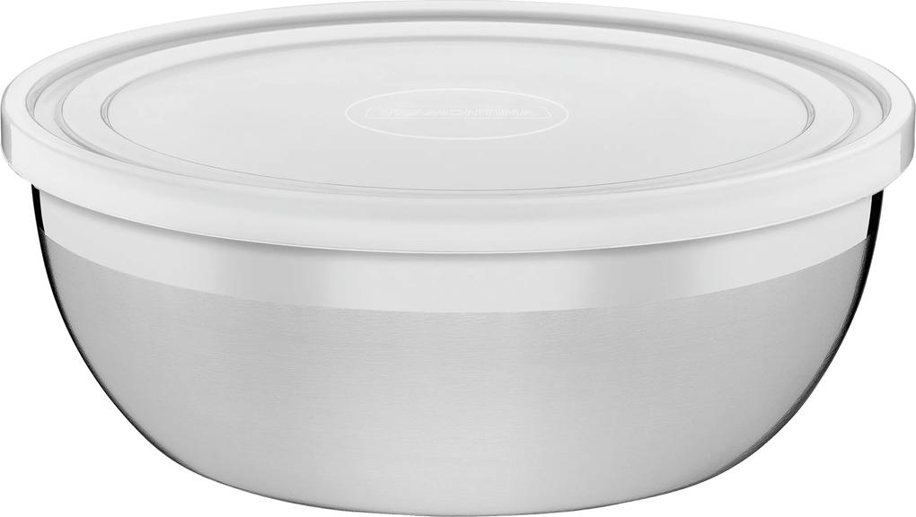 Pote Tramontina Freezinox Redondo Em Aço Inox Com Tampa Plástica 18 Cm 1,6 L 61222180