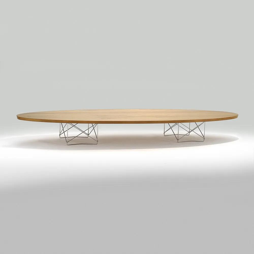 Mesa de Centro Elíptica Aço Inox Studio Mais Design by Charles e Ray Eames