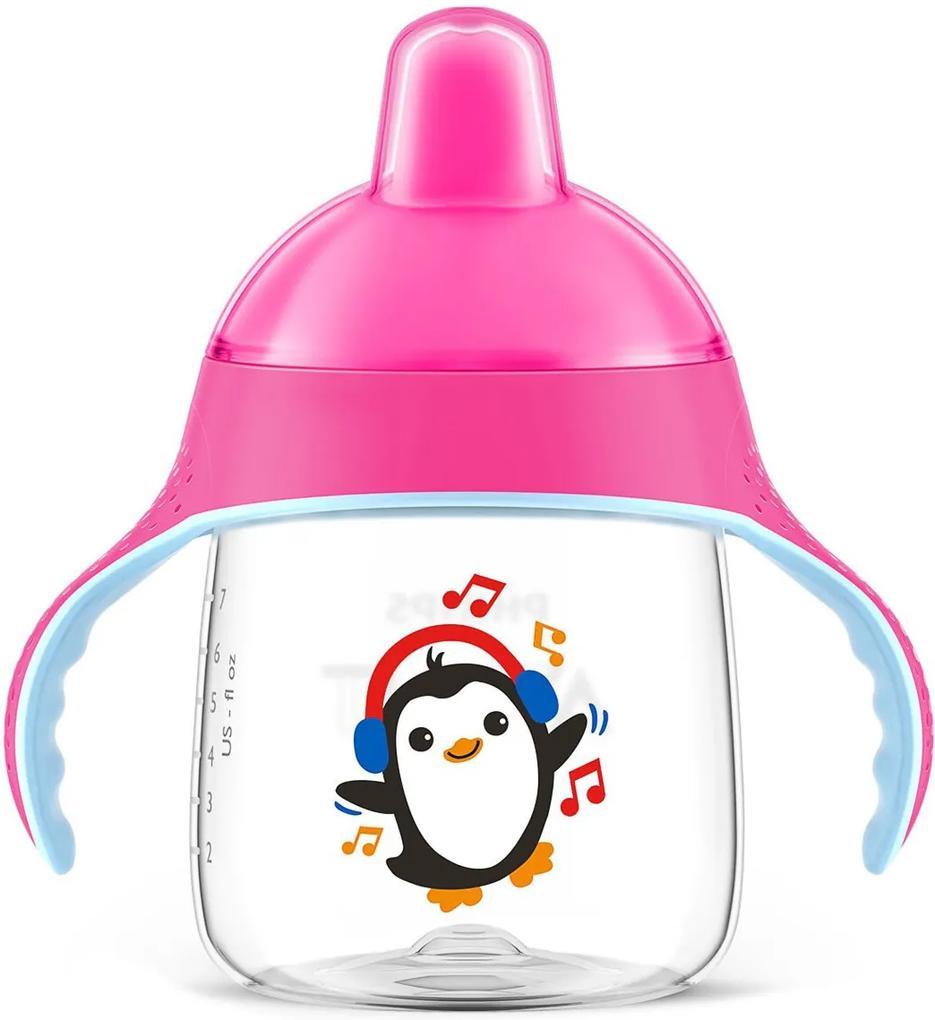 Copo Pinguim 260ml Avent Rosa