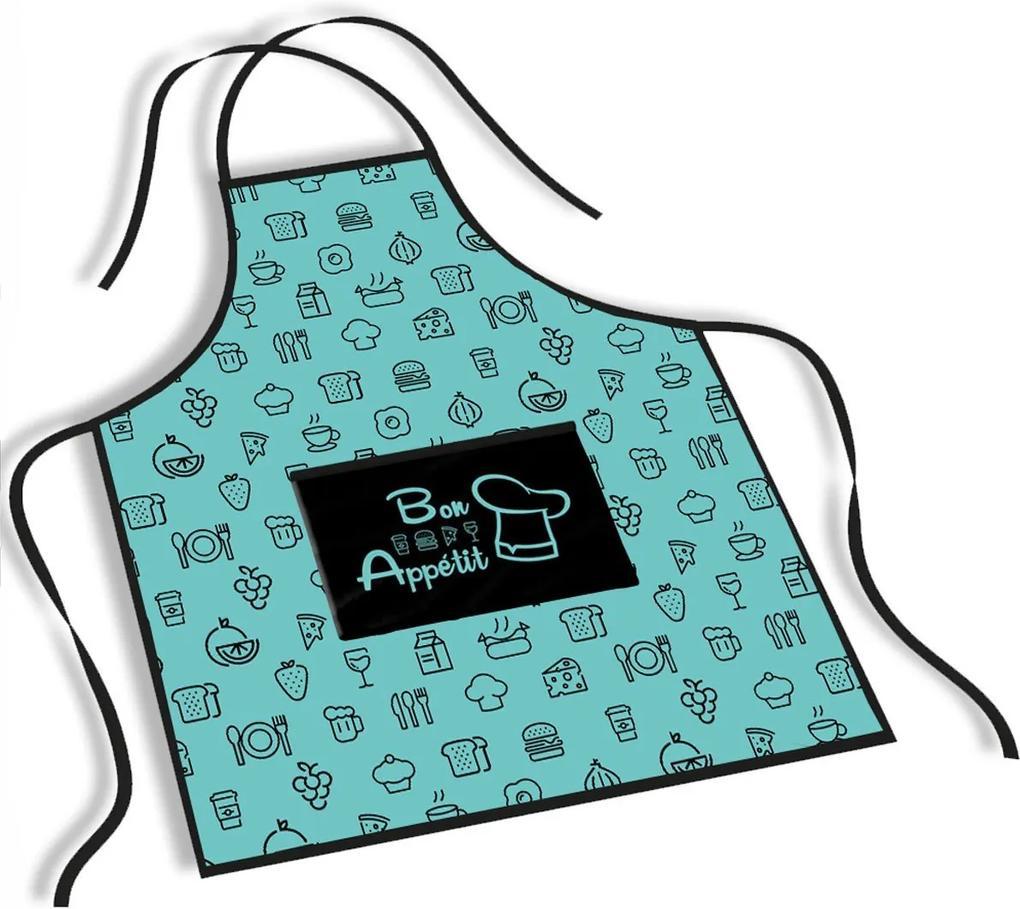 Avental Mdecore Bon Appétit Azul TurquesaÚnico