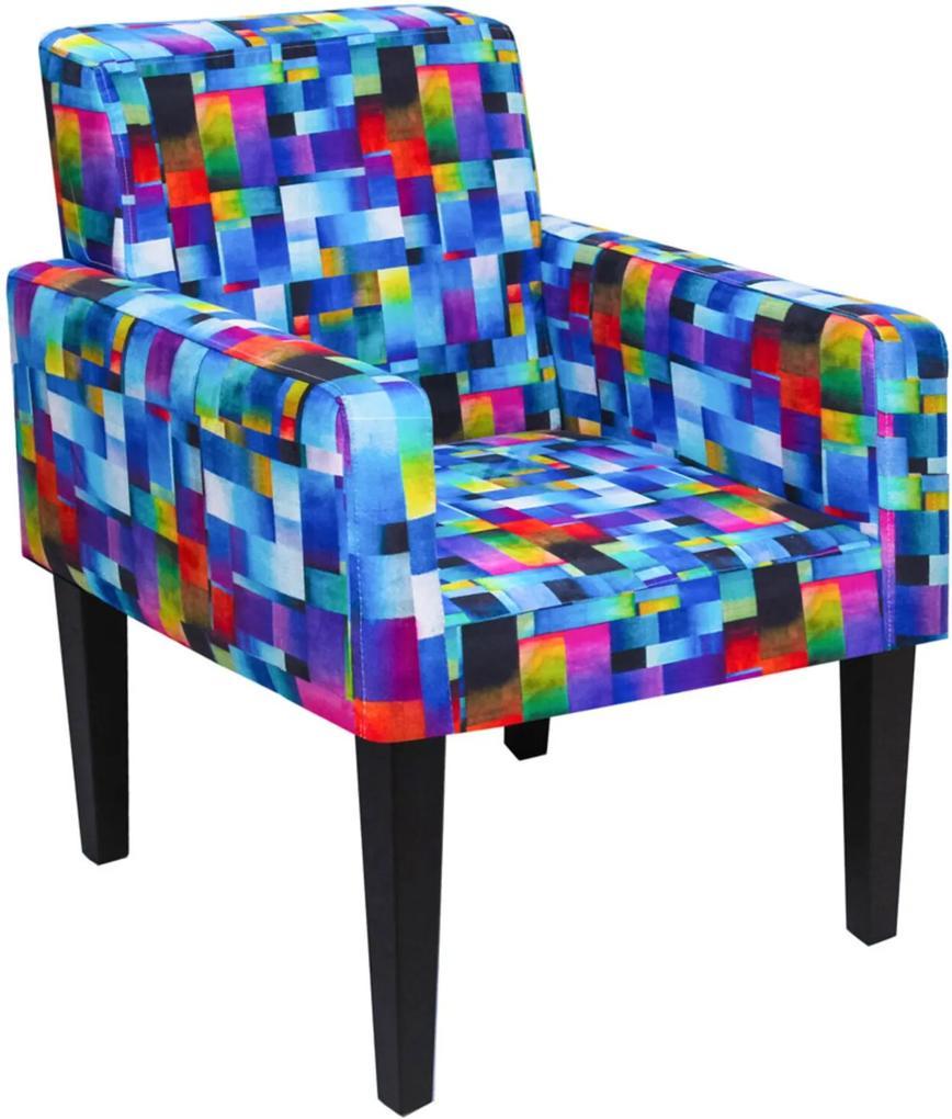 Poltrona Decorativa Dani para Sala e Recepção Estampado Mosaico D09 - D'Rossi