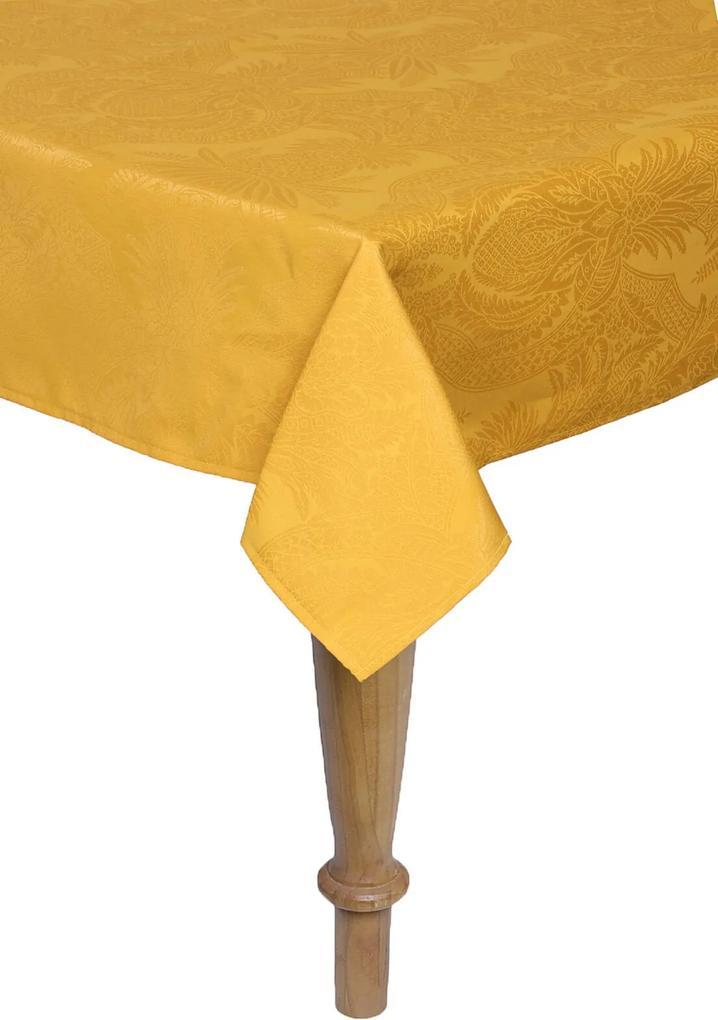 Toalha De Mesa Quadrada Karsten Sempre Limpa Tropical 180x180Cm Amarela