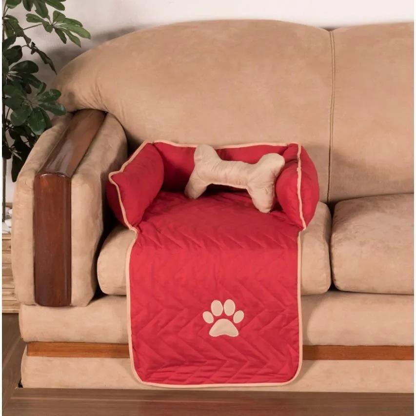 Protetor Pet Pequeno Para Sofá - Vermelho