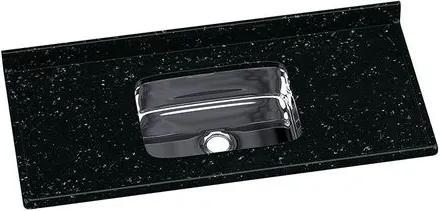 Pia de Granito Sintético 120x55cm Preta com Cuba Inox - 5622 - Rorato - Rorato