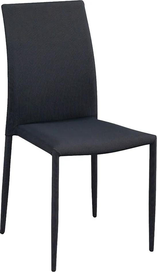 Cadeira Decorativa Sala e Cozinha Karma Poliéster Cinza com Preto - Gran Belo