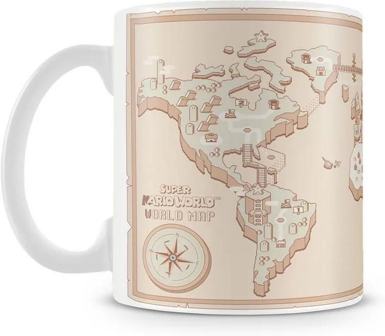 Caneca Personalizada Mapa Mundi Super Mário Bros