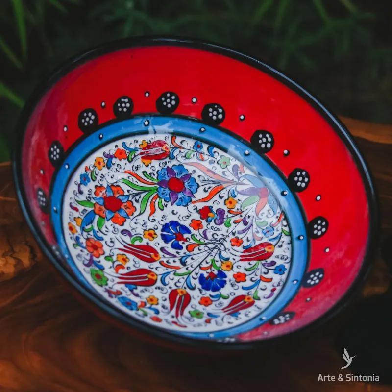 Tigela Turca em Cerâmica 21cm | Red