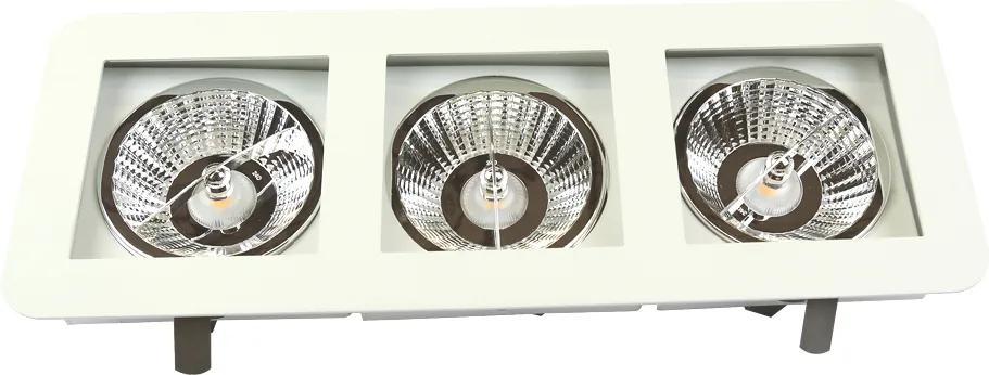 Plafon Embutir Aluminio Branco 41,5cm