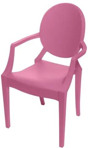 Cadeira Louis Ghost INFANTIL com Braco cor Rosa - 52521 Sun House