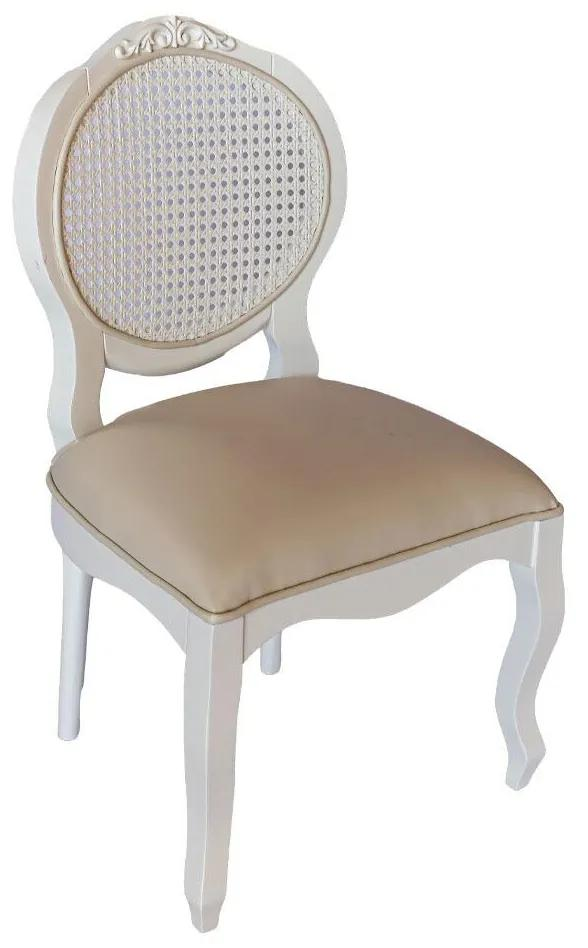 Cadeira Infantil Arabesque s/ Braço - Branco Provençal Kleiner Schein