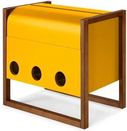 Mini Bar Canyon Cor Cacau Com Amarelo - 29464 Sun House