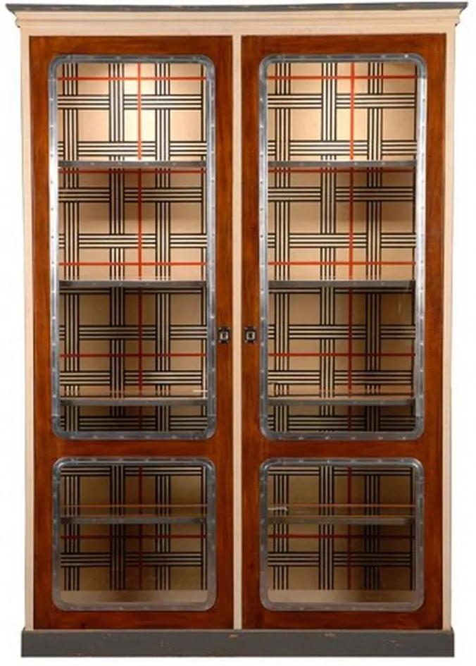 Vitrine Audrey de Madeira com 4 Prateleiras e Porta de Vidro