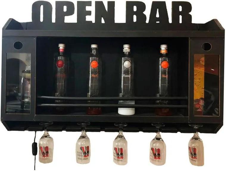 Adega Open Bar Porta Taças