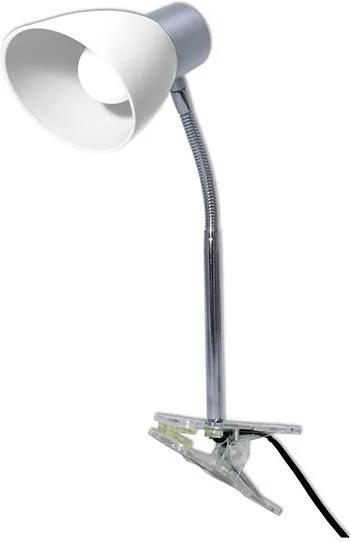 Luminária Led com Garra Cor Gelo 2,5W Rosca E-14