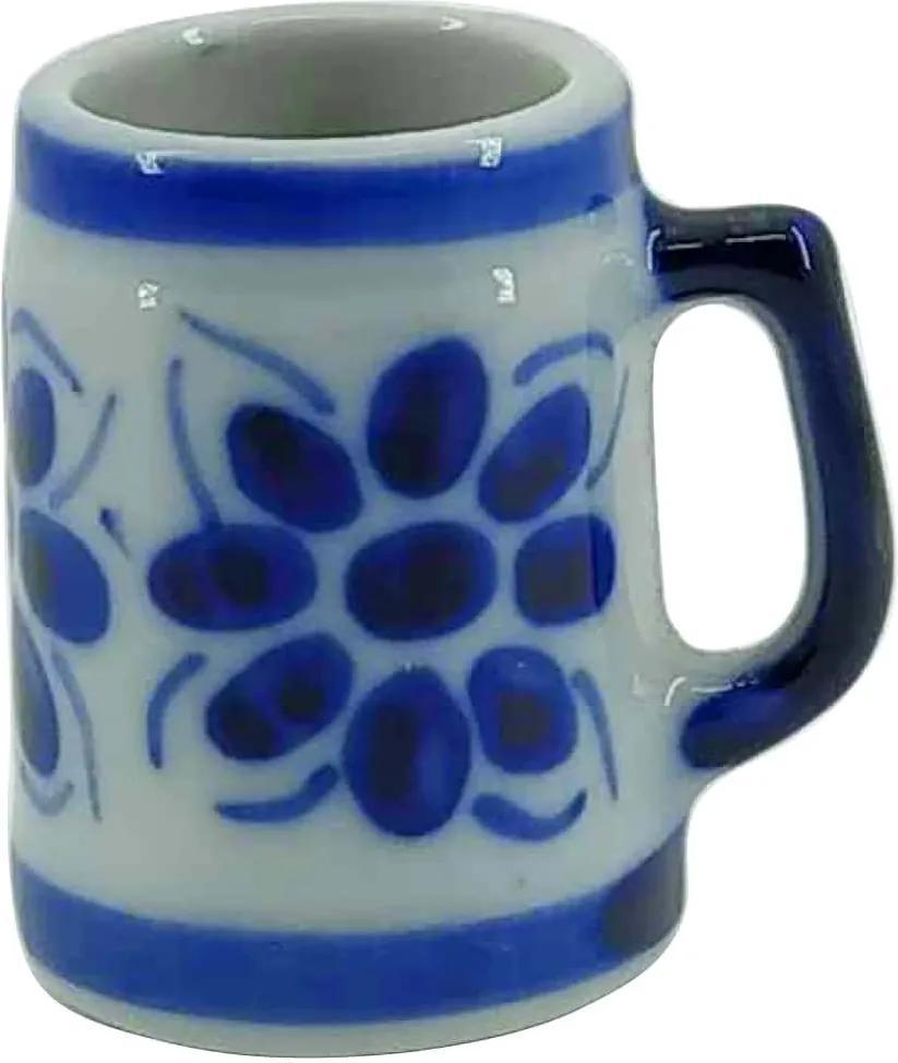 Caneca de Porcelana Azul Colonial 50 ml