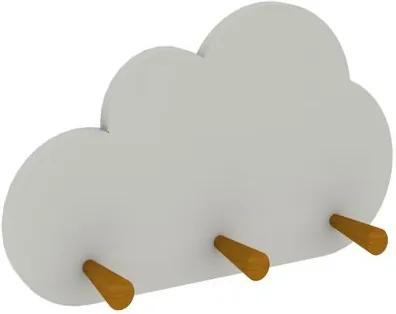 Cabideiro Nuvem com 3 Cabides Branco - Casatema