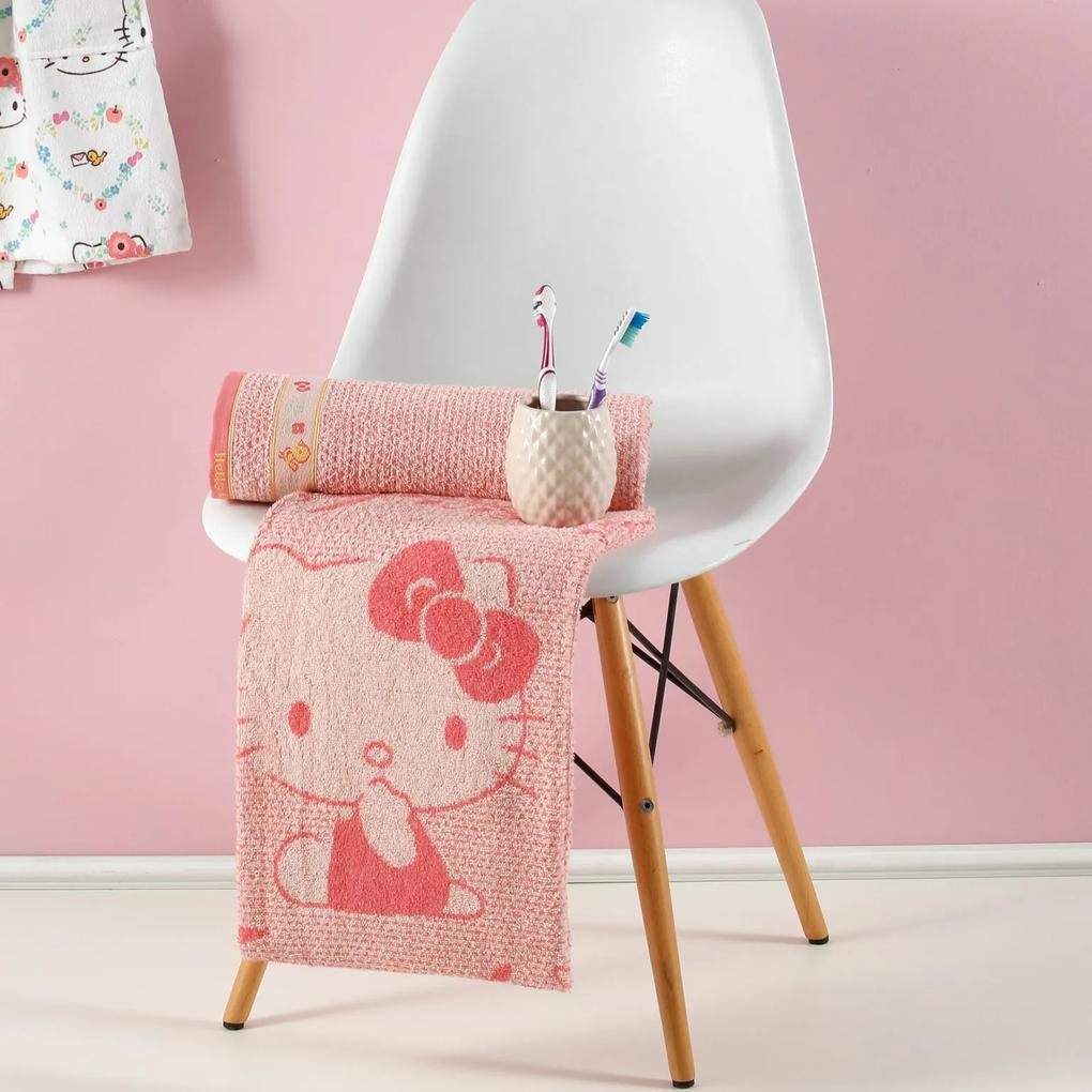 Toalha Fio Penteado Hello Kitty Cute