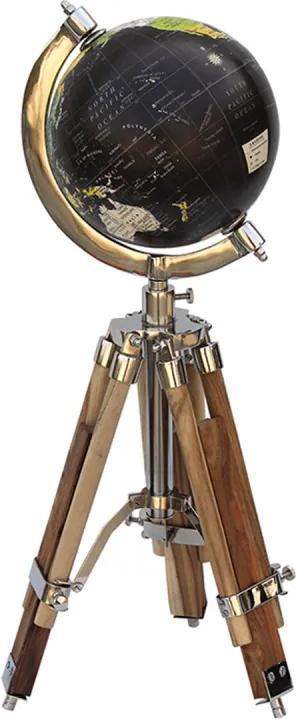 Globo MARCO POLO de metal e madeira 48 cm Ilunato SEI0018