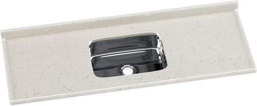Pia de Granito Sintético 150x55cm Travertino com Cuba Inox - 5624 - Rorato - Rorato