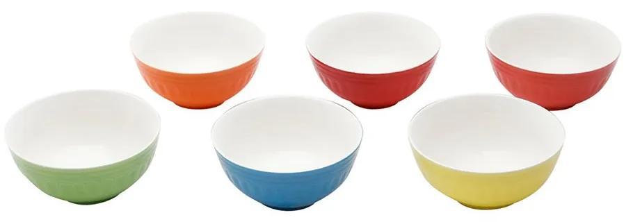 Jogo Bowls De Cerâmica Coloridos 6 Peças Mary 13x8cm 1134 Bon Gourmet
