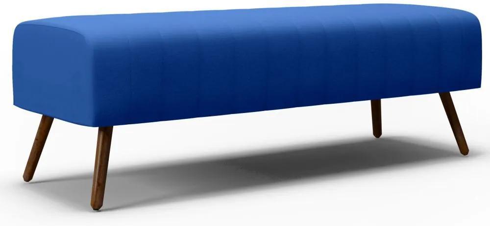 Recamier Estofado Hórus 140 cm Veludo Azul - Gran Belo