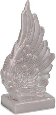 Asa de Anjo Cinza em Cerâmica 11cm 8684 Mart
