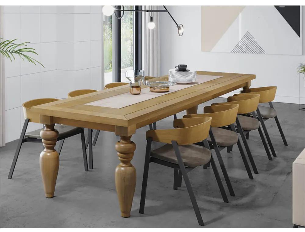Conjunto Mesa Flower e 10 Cadeiras de Aço Coller -