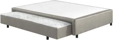 Box Sommier Casal com Cama Auxiliar 138x188x36 - Cinza