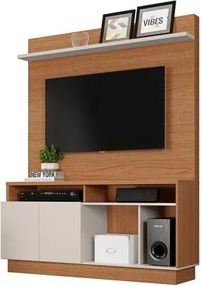 Estante Home Painel para TV até 60 Pol. Parati Natura Real/Off White - Colibri