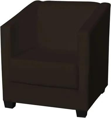 Poltrona Decorativa Valéria com Pés em PVC Corino Marrom - JS Móveis