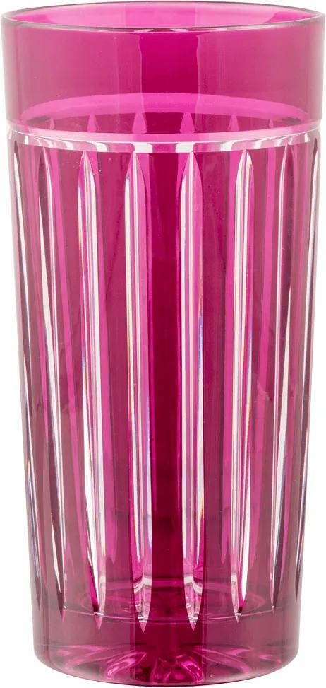 Copo alto de Cristal Lodz para Água de 350 ml - Cerise